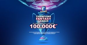 100.000 € guaranteed * at the Stoiximan.com Fantasy Tournament for the Champions League!