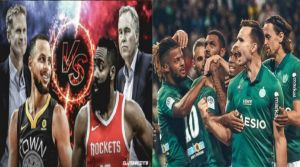 St. Etienne - Montpellier and after midnight ... NBA.