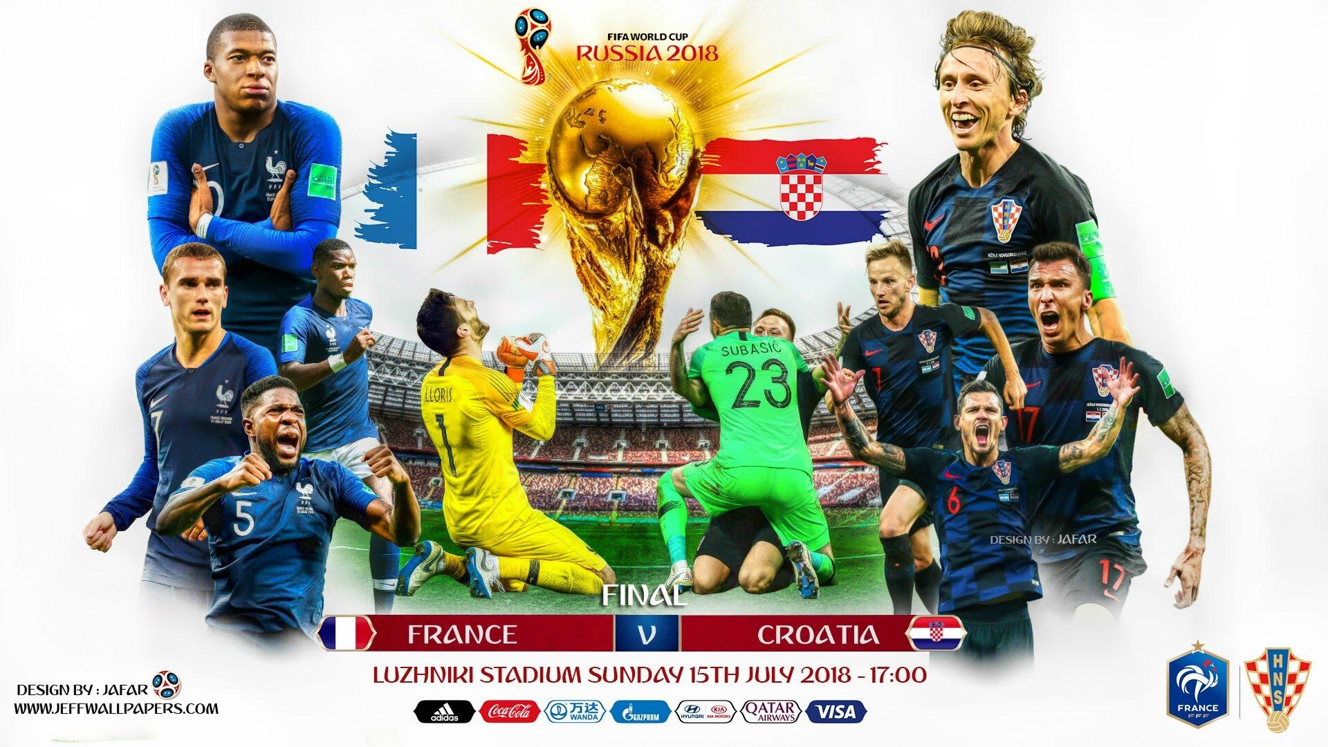 Γαλλία - Κροατία: Ο μεγάλος τελικός...
